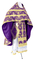Russian Priest vestments - Pskov rayon brocade S4 (violet-gold), Economy design