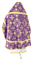 Russian Priest vestments - Pskov rayon brocade S4 (violet-gold) back, Economy design