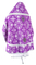 Russian Priest vestments - Pskov rayon brocade S4 (violet-silver) back, Economy design