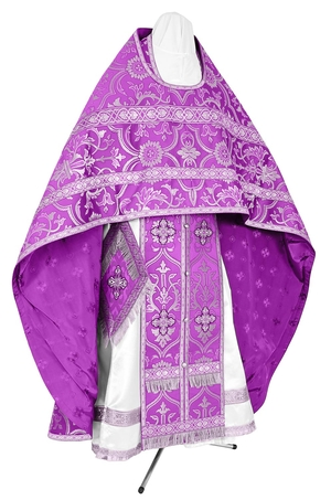 Russian Priest vestments - rayon brocade S4 (violet-silver)