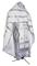 Russian Priest vestments - Prestol rayon brocade S4 (white-silver), Standard design