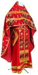 Russian Priest vestments - rayon Chinese brocade (red-gold)