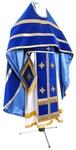 Russian Priest vestments - natural German velvet (blue-gold)