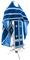 Russian Priest vestments - natural German velvet (blue-silver), Standard design