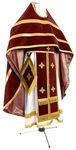 Russian Priest vestments - natural German velvet (claret-gold)