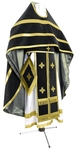 Russian Priest vestments - natural German velvet (black-gold)