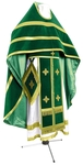 Russian Priest vestments - natural German velvet (green-gold)