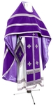 Russian Priest vestments - natural German velvet (violet-silver)