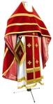 Russian Priest vestments - natural German velvet (red-gold)