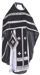 Russian Priest vestments - natural German velvet (black-silver)