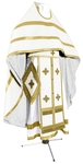 Russian Priest vestments - natural German velvet (white-gold)