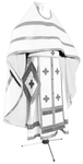 Russian Priest vestments - natural German velvet (white-silver)