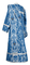 Deacon vestments - Bryansk metallic brocade B (blue-silver) back, Economy design