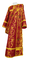 Deacon vestments - Bryansk metallic brocade B (claret-gold), Economy design