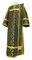 Deacon vestments - Cappadocia metallic brocade B1 (black-gold), Economy design
