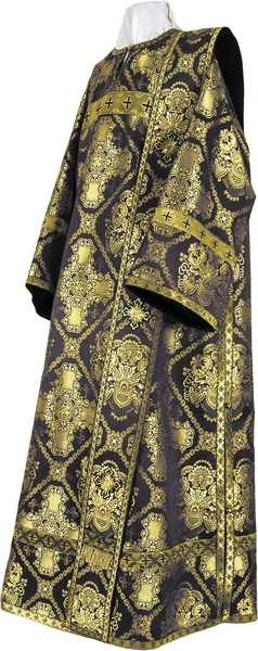 Deacon vestments - metallic brocade B (black-gold)