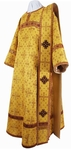 Deacon vestments - metallic brocade B (yellow-claret-gold)