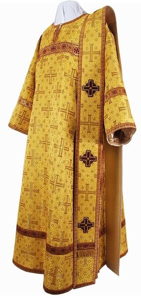 Deacon vestments - metallic brocade B (yellow-claret-gold)