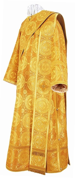 Deacon vestments - metallic brocade B (yellow-gold)