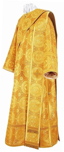 Deacon vestments - metallic brocade B (yellow-gold)