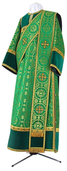 Deacon vestments - metallic brocade B (green-gold)