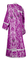 Deacon vestments - Bryansk metallic brocade B (violet-silver) back, Economy design