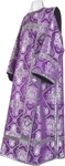 Deacon vestments - metallic brocade B (violet-silver)
