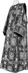 Deacon vestments - metallic brocade B (black-silver)