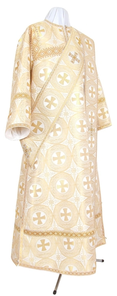 Deacon vestments - metallic brocade B (white-gold)