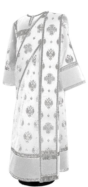 Deacon vestments - metallic brocade B (white-silver)