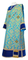 Deacon vestments - Bouquet metallic brocade BG1 (blue-gold) with velvet inserts, Standard design