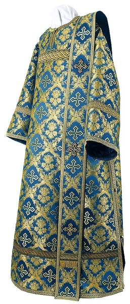 Deacon vestments - metallic brocade BG1 (blue-gold)