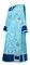 Deacon vestments - Bouquet metallic brocade BG1 (blue-silver) with velvet inserts, Standard design