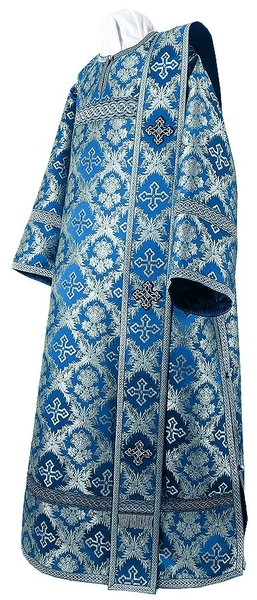 Deacon vestments - metallic brocade BG1 (blue-silver)