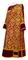 Deacon vestments - Bouquet metallic brocade BG1 (claret-gold) with velvet inserts, Standard design