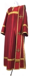 Deacon vestments - metallic brocade BG1 (claret-gold)