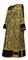 Deacon vestments - Bouquet metallic brocade BG1 (black-gold) with velvet inserts, Standard design