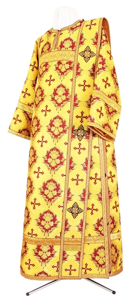 Deacon vestments - metallic brocade BG1 (yellow-claret-gold)