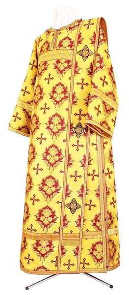 Deacon vestments - metallic brocade BG1 (yellow-claret-gold)