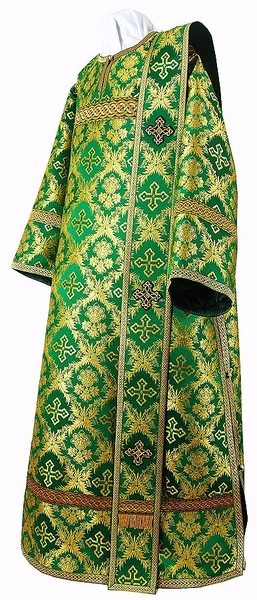 Deacon vestments - metallic brocade BG1 (green-gold)
