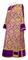 Deacon vestments - Bouquet metallic brocade BG1 (violet-gold) with velvet inserts, Standard design