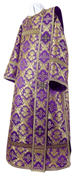 Deacon vestments - metallic brocade BG1 (violet-gold)