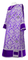 Deacon vestments - Bouquet metallic brocade BG1 (violet-silver) with velvet inserts, Standard design