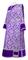 Deacon vestments - Bouquet metallic brocade BG1 (violet-silver) with velvet inserts, Standard design