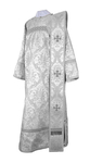 Deacon vestments - metallic brocade BG1 (white-silver)