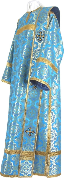 Deacon vestments - metallic brocade BG2 (blue-gold)