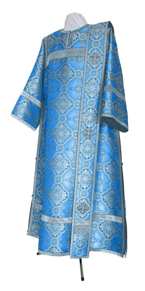 Deacon vestments - metallic brocade BG2 (blue-silver)