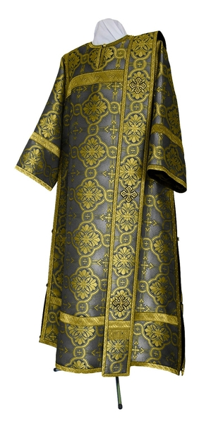 Deacon vestments - metallic brocade BG2 (black-gold)