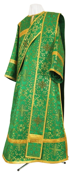 Deacon vestments - metallic brocade BG2 (green-gold)