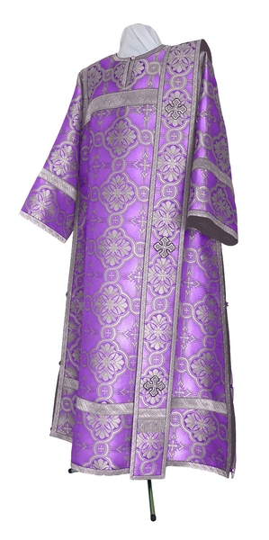 Deacon vestments - metallic brocade BG2 (violet-silver)